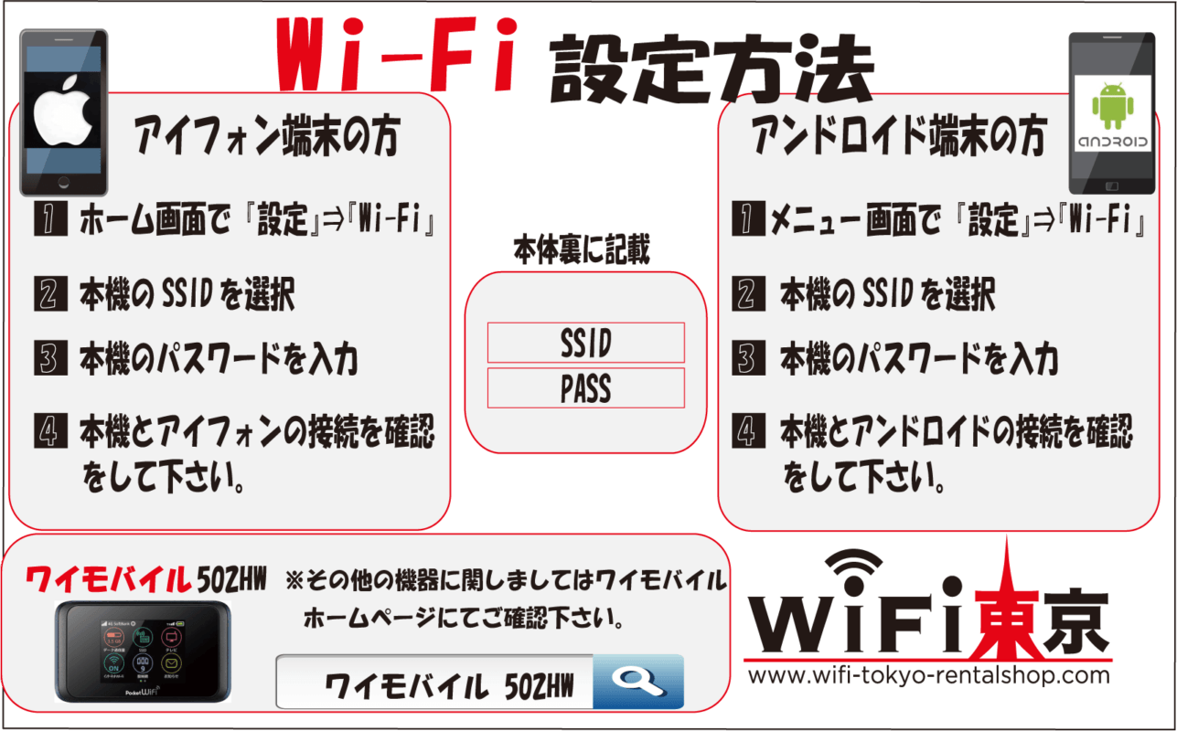 Wi-Fiルーター設定方法